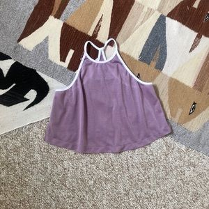 FP Movement shimmery sleeveless workout crop top S